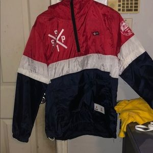 Windbreaker Red white and blue